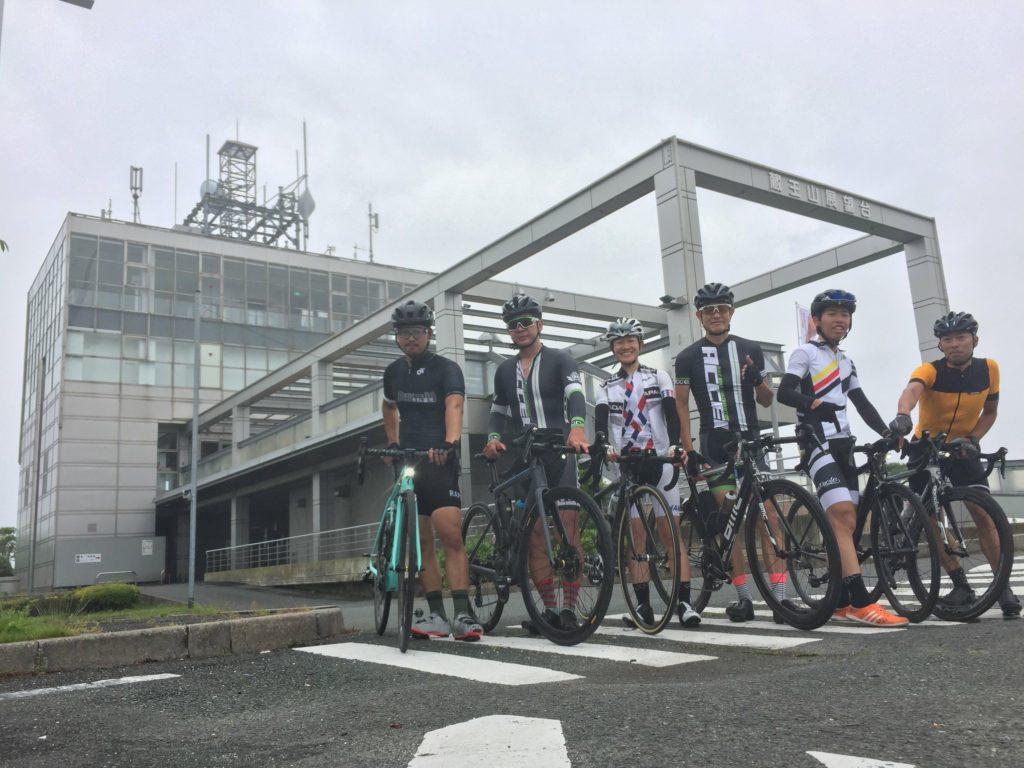 雨の平日自転車部
